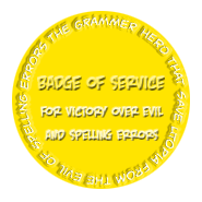 Badge of Victory Over Evil And Spelling Errors